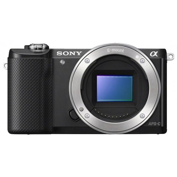 Фотоаппарат со сменной оптикой Sony Alpha A5000 bodyфотокамера с поддержкой сменных объективов, с байонетом Sony E, без объектива в комплекте, матрица 20.4 мегапикселов (23.5 x 15.6 мм), съемка видео разрешением до 1920x1080, поворотный экран 3, Wi-Fi<br><br>Вес кг: 0.30000000