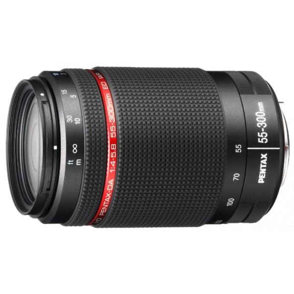 Объектив Pentax HD DA 55-300mm f/4-5.8 ED WRZoom-телеобъектив, крепление Pentax KA/KAF/KAF2, для неполнокадровых фотоаппаратов, автоматическая фокусировка, минимальное расстояние фокусировки 1.4 м, размеры (DхL): 72x111.5 мм, вес: 466 г<br><br>Вес кг: 0.50000000