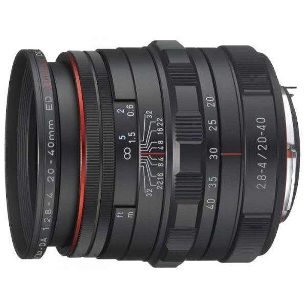 Объектив Pentax DA HD 20-40mm F2.8-4ED Limited DC WR Black/Silverширокоугольный Zoom-объектив, крепление Pentax KA/KAF/KAF2, для неполнокадровых фотоаппаратов, автоматическая фокусировка, минимальное расстояние фокусировки 0.28 м, размеры (DхL): 71x68.5 мм, вес: 283 г<br><br>Вес кг: 0.40000000