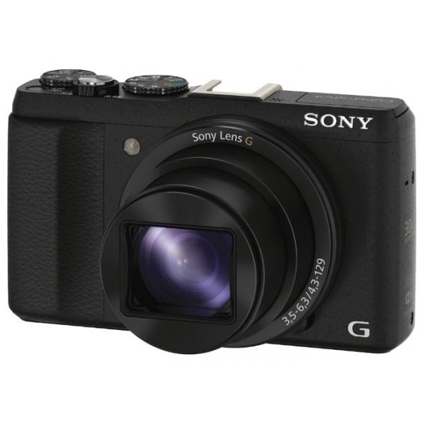 Фотоаппарат Sony Cyber-shot DSC-HX60 Компактныйкомпактная фотокамера, матрица 20.4 мегапикселов (1/2.3), съемка видео разрешением до 1920x1080, 30-кратное оптическое увеличение, экран 3, Wi-Fi, вес камеры 272 г<br><br>Вес кг: 0.30000000