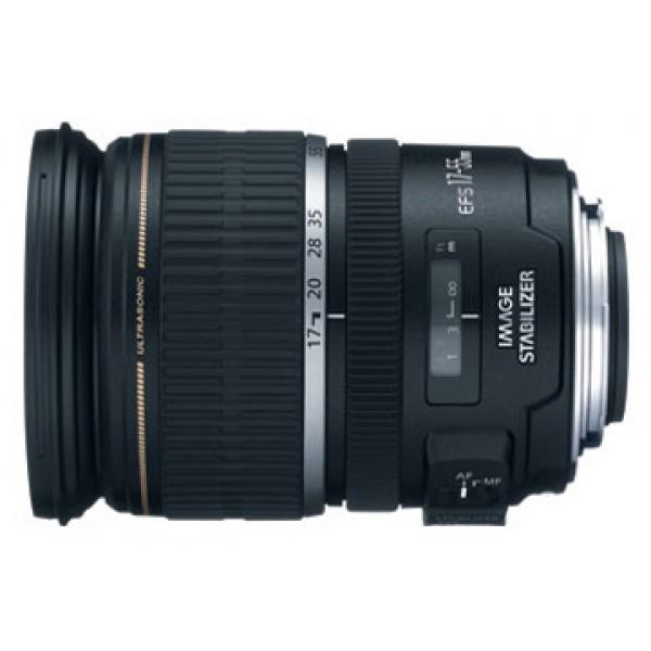 Объектив Canon EF-S 17-55mm f/2.8 IS USMCanon EF-S 17-55 f/2.8 IS USM стандартный Zoom-объектив, крепление Canon EF-S, встроенный стабилизатор изображения, автоматическая фокусировка, минимальное расстояние фокусировки 0.35 м, размеры (DхL): 83.5x110.6 мм, вес: 645 г<br><br>Вес кг: 0.70000000