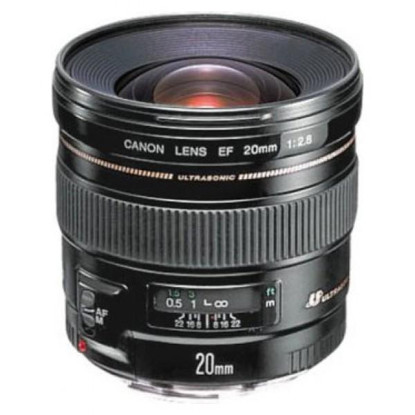 Объектив Canon EF 20mm f/2.8 USMCanon EF 20mm f/2.8 USM широкоугольный объектив с постоянным ФР, крепление Canon EF и EF-S, автоматическая фокусировка, минимальное расстояние фокусировки 0.25 м, размеры (DхL): 77.5x70.6 мм, вес: 405 г<br><br>Вес кг: 0.50000000