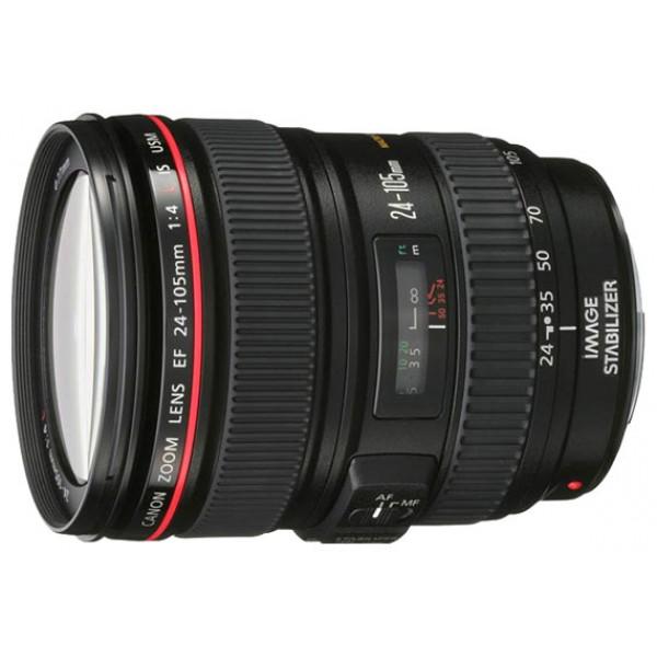 Объектив Canon EF 24-105mm f/4L IS USMВместе с объективами EF 17 - 40 mm f/4L USM и EF 70 - 200 mm f/4L USM этот объектив завершает серию зум-объективов Canon f/4L. Эти лёгкие объективы с фиксированной диафрагмой для всего диапазона увеличения разрабатывались с учётом требований профессиональных фотографов. Технология стабилизации изображения, обеспечивающая эквивалент 3 шага, позволяет снимать с более длительной выдержкой, благодаря чему в значительной степени компенсируется сотрясение камеры и получаются более чёткие снимки.<br>Объективы серии L компании Canon – это удобные и простые в использовании водонепроницаемые объективы профессионального уровня, обеспечивающие превосходное качество изображения. Объектив EF 24-105 mm f/4L IS USM имеет меньший вес по сравнению с уже завоевавшим популярность EF 24-70 mm f/2.8L USM.<br><br>Вес кг: 0.80000000