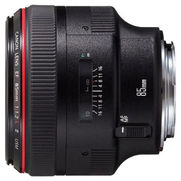 Объектив Canon EF 85mm f/1.2L II USMCanon EF 85 f/1.2L II USM стандартный объектив с постоянным ФР, крепление Canon EF и EF-S, автоматическая фокусировка, минимальное расстояние фокусировки 0.95 м, размеры (DхL): 91.5x84 мм, вес: 1025 г<br><br>Вес кг: 1.02000000