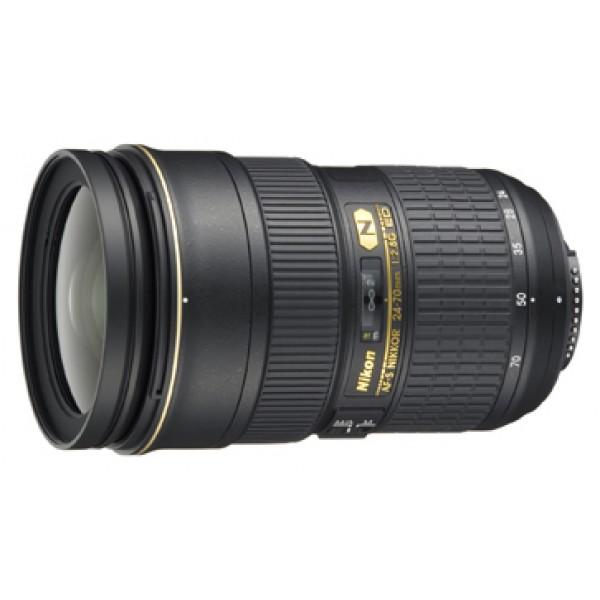 Объектив Nikon 24-70mm f/2.8G ED AF-S NikkorNikon 24-70mm f/2.8G ED AF-S Nikkor Стандартный Zoom-объектив, крепление Nikon F, автоматическая фокусировка, минимальное расстояние фокусировки 0.38 м, размеры (DхL): 83x133 мм, вес: 900 г<br><br>Вес кг: 1.00000000
