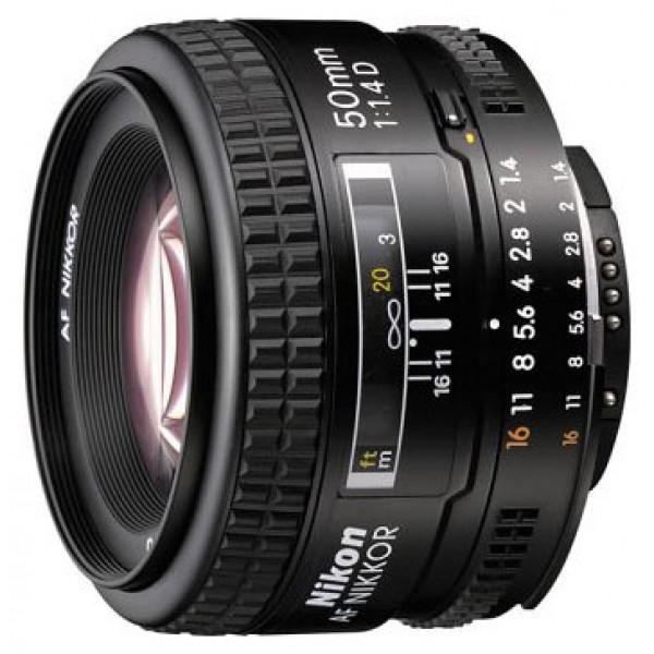 Объектив Nikon 50mm f/1.4D AF NikkorNikon 50mm f/1.4D AF Nikkor стандартный объектив с постоянным ФР, крепление Nikon F, автоматическая фокусировка, минимальное расстояние фокусировки 0.45 м, размеры (DхL): 64.5x42.5 мм, вес: 230 г<br><br>Вес кг: 0.30000000