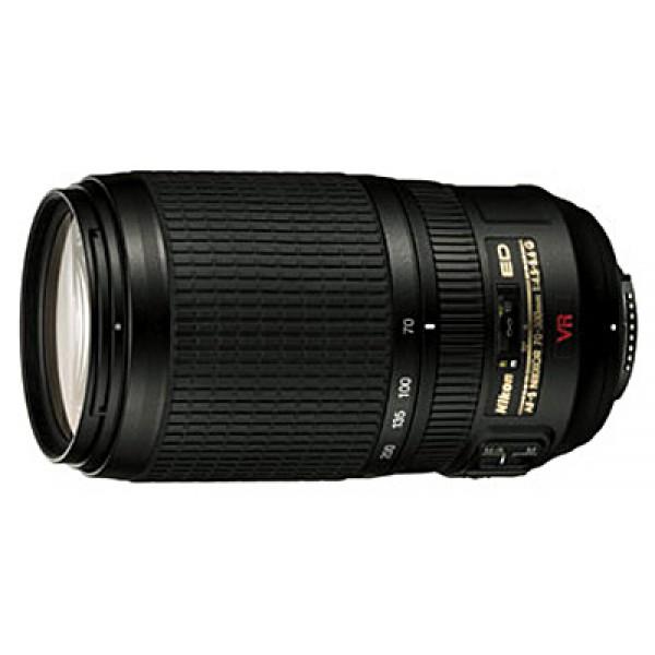 Объектив Nikon 70-300mm f/4.5-5.6G ED-IF AF-S VR Zoom-NikkorZoom-телеобъектив, крепление Nikon F, встроенный стабилизатор изображения, автоматическая фокусировка, минимальное расстояние фокусировки 1.5 м, размеры (DхL): 80x143.5 мм, вес: 745 г<br><br>Вес кг: 0.80000000