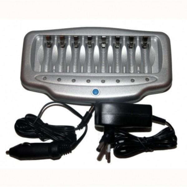 Зарядное устройство VANSON V-6280Сетевое и автомобильное З/У.<br>Многопозиционное зарядное устройство.<br>8 независимых ячеек с индивидуальной индикацией.<br>Зарядное устройство имеет переключатель 120/240V.<br>Защита от перезаряда методом -&amp;#61508;V<br>Диодные индикаторы зарядки.<br><br><br>    <br>        <br>            <br>                Модель:<br>                V-6280<br>            <br>            <br>                Автомобильный адаптер:<br>                да<br>            <br>            <br>                В упаковке:<br>                блистер 6 / 24<br>            <br>            <br>                Заряд по таймеру:<br>                да<br>            <br>            <br>                Защита от короткого замыкания:<br>                да<br>            <br>            <br>                Микропроцессорное управление:<br>                да<br>            <br>            <br>                Страна производитель:<br>                Китай<br>            <br>            <br>                Тип аккумуляторов:<br>                N-MH; 1-8 AA, AAA<br>            <br>            <br>                Ток заряда:<br>                AA 8x (700mA), AAA 8x (700mA)<br>            <br>            <br>                Функция разряда:<br>                да<br>            <br>            <br>                Торговая марка:<br>                Vanson<br>