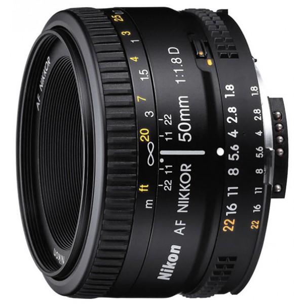 Объектив Nikon 50mm f/1.8D AF NikkorОбъектив NIKKOR 50/1.8 AF D стандартный объектив с постоянным ФР, крепление Nikon F, минимальное расстояние фокусировки 0.45 м, размеры (DхL): 63.5x39 мм, вес: 155 г<br><br>Вес кг: 0.20000000