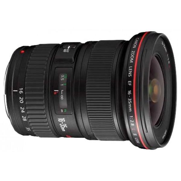 Объектив Canon EF 16-35mm f/2.8L II USMCanon EF 16-35mm f/2.8L II USM широкоугольный Zoom-объектив, крепление Canon EF и EF-S, автоматическая фокусировка, минимальное расстояние фокусировки 0.28 м, размеры (DхL): 88.5x111.6 мм, вес: 640 г<br><br>Вес кг: 0.70000000