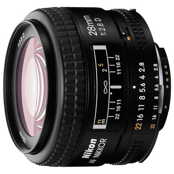 Объектив Nikon 28mm f/2.8D Nikkorширокоугольный объектив с постоянным ФР, крепление Nikon F, автоматическая фокусировка, минимальное расстояние фокусировки 0.25 м, размеры (DхL): 65x44.5 мм, вес: 205 г<br><br>Вес кг: 0.30000000