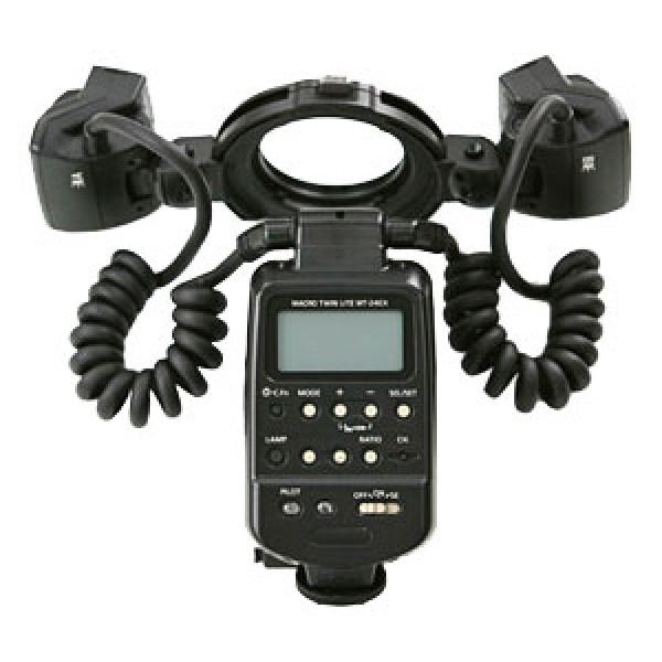 Вспышка Canon Macro Twin Lite MT-24 EXГАРАНТИЯ ПРОИЗВОДИТЕЛЯ! двухламповая вспышка для камер Canon, ведушее число: 24 м (при ISO 100), поддержка режимов TTL, E-TTL, поворотная головка, ручной выбор угла освещения, дисплей с подстветкой, вес: 403 г<br><br><br><br>Canon Macro Twin Lite MT-24EX<br>Вспышки Speedlite<br><br>    <br><br><br><br><br><br><br><br>    Поддержка и Загрузки<br>    Брошюры<br><br><br><br><br><br><br><br><br><br>    Обзор<br>    Технические характеристики<br><br><br> <br><br><br><br><br><br> Canon Macro Twin Lite MT-24EX <br>Вспышка с двумя осветителями для специалистов по макросъемке<br>MT-24EX Macro Twin Lite  создает новые возможности для регулирования освещения при макросъемке.  Созданная специально для специалистов по макросъемке, эта вспышка  универсальна как по диапазону мощности, так и по возможностям  направления света. <br><br>Преимущества<br><br>     Экспозамер E-TTL II  <br>     Ведущее число 24  <br>     Работает как беспроводная ведущая вспышка  <br>     Две головки, срабатывающие вместе или независимо друг от друга  <br>     Возможность использования моделирующей вспышки  <br>     Крепление к переднему краю макрообъектива либо независимое размещение каждой головки   <br><br><br><br><br><br><br><br><br><br><br><br><br>Родственная продукция<br><br><br>    Цифровые зеркальные камеры <br>    Объективы EF <br>    Компактные цифровые фотокамеры <br><br><br><br><br><br><br>  <br><br><br><br><br>Подробное описание<br><br><br>Автоматический замер экспозиции<br>Совместимая со всеми цифровым зеркальными фотоаппаратами EOS вспышка  MT-24EX Macro Twin Lite оснащена полностью автоматическим экспозамером  E-TTL II для точного замера экспозиции в любой ситуации. Головки вспышки  имеют равную мощность и суммарное ведущее число 24. Это обеспечивает  достаточную мощность вспышки даже при сильном увеличении. <br><br><br>Управление соотношением мощности<br>Управление двумя излучателями, как вместе, так и независимо друг от  друга, позволяет достичь нео