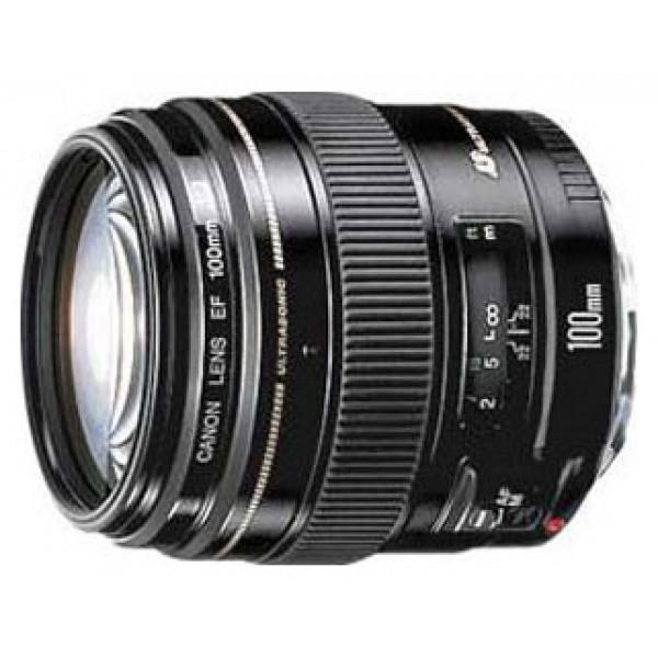 Объектив Canon EF 100mm f/2 USMтелеобъектив с постоянным ФР, крепление Canon EF и EF-S, автоматическая фокусировка, минимальное расстояние фокусировки 0.9 м, размеры (DхL): 75x73.5 мм, вес: 460 г<br><br>Вес кг: 0.50000000