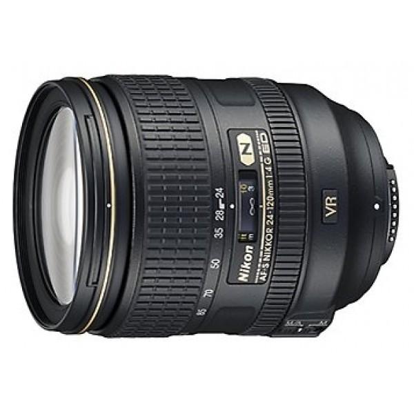 Объектив Nikon 24-120mm f/4G ED VR AF-S NikkorОбъектив Nikon для полнокадровых камер Nikon 24-120mm f/4G ED VR AF-S Nikkor стандартный Zoom-объектив, крепление Nikon F, встроенный стабилизатор изображения, автоматическая фокусировка, минимальное расстояние фокусировки 0.45 м, размеры (DхL): 84x103.5 мм, вес: 710 г<br><br>Вес кг: 0.80000000