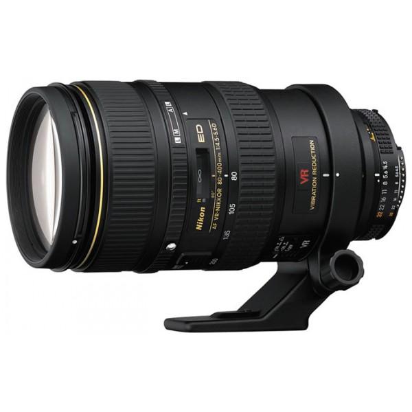 Объектив Nikon 80-400mm f/4.5-5.6D ED VR AF Zoom-NikkorNikon 80-400mm f/4.5-5.6D ED VR AF Zoom-Nikkor Zoom-телеобъектив, крепление Nikon F, встроенный стабилизатор изображения, автоматическая фокусировка, минимальное расстояние фокусировки 2.3 м, размеры (DхL): 91x171 мм, вес: 1360 г<br><br>Вес кг: 1.36000000