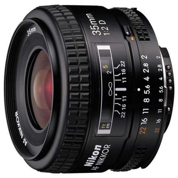 Объектив Nikon 35mm f/2D AF NikkorNikon 35mm f/2D AF Nikkor широкоугольный объектив с постоянным ФР, крепление Nikon F, автоматическая фокусировка, минимальное расстояние фокусировки 0.25 м, размеры (DхL): 64.5x43.5 мм, вес: 205 г<br><br>Вес кг: 0.30000000