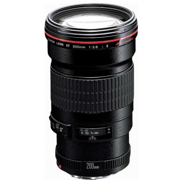 Объектив Canon EF 200mm f/2.8L II USMтелеобъектив с постоянным ФР, крепление Canon EF и EF-S, автоматическая фокусировка, минимальное расстояние фокусировки 1.5 м, размеры (DхL): 83.2x136.2 мм, вес: 765 г<br><br>Вес кг: 0.80000000