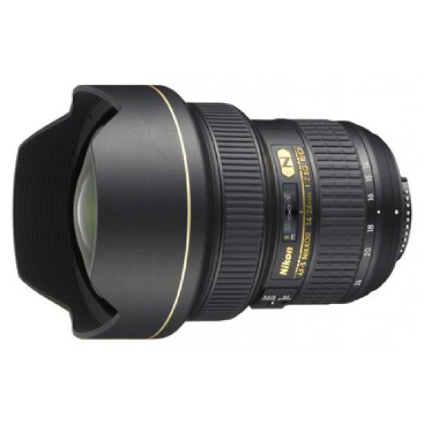 Объектив Nikon 14-24mm f/2.8G ED AF-S NikkorNikon 14-24mm f/2.8G ED AF-S Nikkor широкоугольный Zoom-объектив, крепление Nikon F, автоматическая фокусировка, минимальное расстояние фокусировки 0.28 м, размеры (DхL): 98x131.5 мм, вес: 1000 г<br><br>Вес кг: 1.00000000