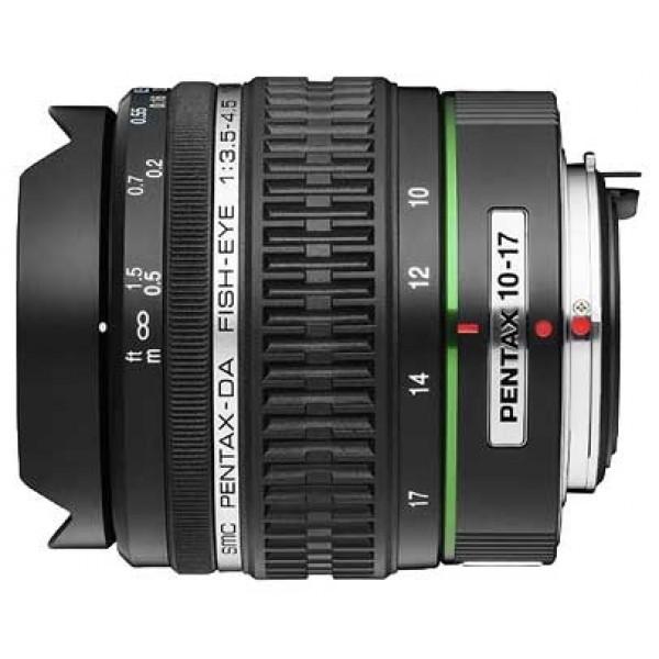 Объектив Pentax SMC Fish Eye DA 10-17mm f/3.5-4.5 ED (IF)объектив типа рыбий глаз, крепление Pentax KA/KAF/KAF2, для неполнокадровых фотоаппаратов, автоматическая фокусировка, минимальное расстояние фокусировки 0.14 м, размеры (DхL): 68x75 мм, вес: 320 г<br><br>Вес кг: 0.40000000