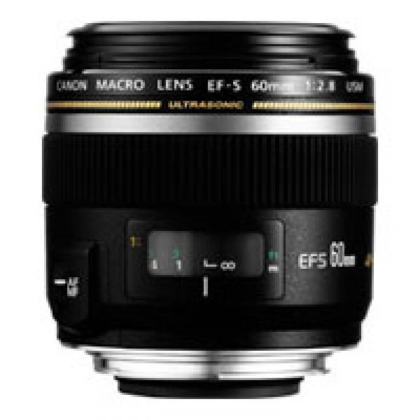 Объектив Canon EF-S 60mm f/2.8 Macro USMмакрообъектив с постоянным ФР, крепление Canon EF-S, для неполнокадровых фотоаппаратов, автоматическая фокусировка, минимальное расстояние фокусировки 0.2 м, размеры (DхL): 73x69.8 мм, вес: 335 г<br><br>Вес кг: 0.40000000
