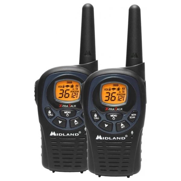 Радиостанция Midland LXT-325рация LPD, 2 рации в комплекте, диапазон частот 433.075-434.775 МГц, мощность передатчика 0.01 Вт, радиус действия 10 км, питание Ni-MH-аккумулятор, количество каналов 69<br>