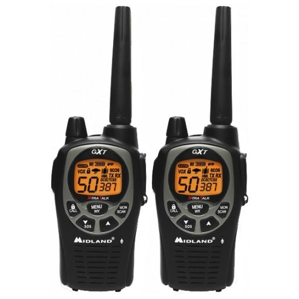 Радиостанция Midland GXT-1000Радиостанция Midland GXT1000 создана для работы в стандарте LPD, имеет влагозащитное исполнение стандарта JIS4, прочный корпус и оснащена всеми необходимыми функциями. Микрофон GXT1000 поддерживает режим whisper, благодаря которому пользователь может говорить очень тихим голосом и даже шепотом. Групповой режим работа в группе позволяет «разделить» канал связи между пользователями, не мешая друг другу.<br>