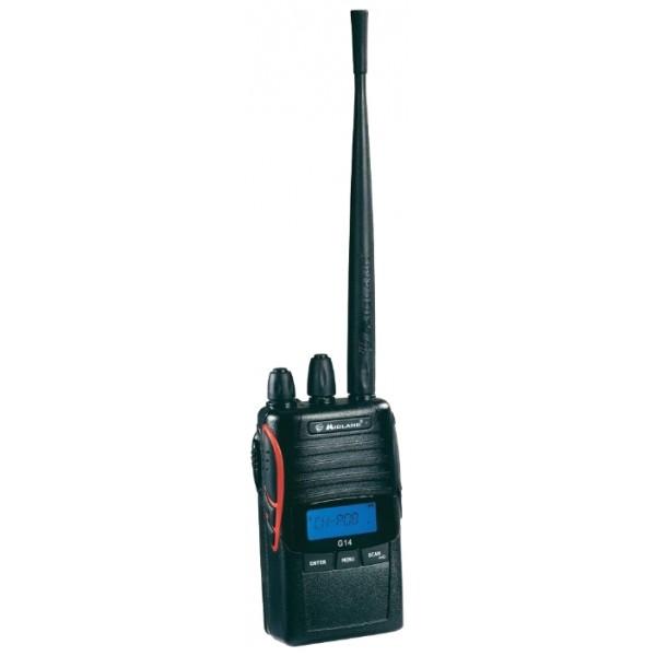 Радиостанция Midland G14Эта двухдиапазонная (PMR/ LPD) радиостанция ориентирована на самых требовательных пользователей, даже профессионалы оценят ее по достоинству. Отличные технические характеристики, алюминиевое шасси, брызгозащита и программное обеспечение, которое позволяет расширить или наоборот сузить диапазон функциональных возможностей, - всё это позволяет поставить G14 в один ряд с профессиональными радиостанциями.<br><br>Вес кг: 0.30000000