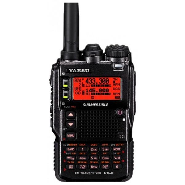 Радиостанция Yaesu VX-8DRVX-8DR – версия аппарата серии VX-8R с функцией APRS. Переносная радиостанция VX-8DR с поддержкой технологий APRS®/GPS/Bluetooth® является расширенной версией радиостанции VX-8R, в которой помимо основных характеристик и параметров, также реализованы дополнительные функции APRS®, отвечающие нуждам наиболее активных пользователей системы APRS®. Радиостанция VX-8DR имеет тот же внешний вид, что и VX-8R, с ней применяются те же аксессуары.<br><br>Вес кг: 0.30000000