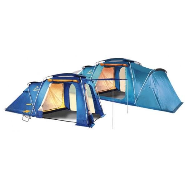 Палатка Normal БизонНазначение: Кемпинг, семейный отдых, длительные стоянки. Особенности: Комфортная и просторная палатка высотой в полный рост. // Двухслойный купол, жёсткий арочный каркас. // Конструкция данной модели позволяет использовать тент без внутренней палатки. // Очень большой тамбур, оснащенный тремя входами. // Палатка оснащена системой купольной вентиляции. // Боковые карманы из сетки. // Наружная ветрозащитная юбка по всему периметру тента. Конструкция: Двухслойный купол с подвесной внутренней палаткой, жесткий арочный каркас.<br><br>Вес кг: 11.10000000