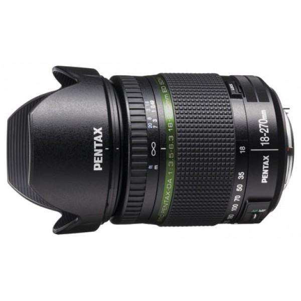 Объектив Pentax SMC DA 18-270mm f/3.5-6.3 ED SDMPentax SMC DA 18-270mm f/3.56.3 ED SDM ИНДЕКС ПРОИЗВОДИТЕЛЯ MP21497 стандартный Zoom-объектив, крепление Pentax KA/KAF/KAF2, автоматическая фокусировка, минимальное расстояние фокусировки 0.49 м, размеры (DхL): 75.8x89 мм, вес: 453 г<br><br>Вес кг: 0.50000000
