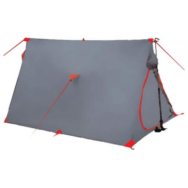 Палатка Tramp SPUTNIK трекинговаяTramp Sputnik - двухместная однослойная палатка от «Tramp», сочетающая в себе классическую двускатную форму и современные материалы, делающие модель пригодной даже для самых сложных походов. Изделие отличается небольшим весом (чуть больше 1 кг) и простотой сборки. Легкость обеспечивается за счет отсутствия в комплекте каркасных элементов – для установки можно использовать подходящие по высоте и размерам крекинговые палки или другие элементы. Рабочая высота палатки – 1,15 м.<br><br>Стенки изделия выполнены из того же материала, что и наружные тенты большинства моделей данной серии. Полиэстеровая ткань, после пропитки и другой обработки, хорошо удерживает влагу, не пропускает внутрь ветер и даже некоторое время способна сопротивляться огню. Последнее не означает, что костер можно разводить вблизи палатки – инструкцией это строжайше запрещается. Материал устойчив и к ультрафиолету – установленная на открытой местности палатка не выцвет под прямыми солнечными лучами.<br><br>Как и в большинстве современных моделей, здесь предусмотрено водостойкое дно, москитная сетка, дублирующая вход, дополнительная защита швов и вентиляционные клапана для использования в непогоду.<br><br>На коньке и по бокам палатки крепятся оттяжки. Чтобы канаты были заметнее, в плетении присутствует светоотражающая нить. По нижнему краю также предусмотрены места для установки колышков (прилагаются в комплекте). Подробное описание обращения с палаткой находится в инструкции, которая также предоставляется вместе с изделием.<br><br>Вес кг: 0.95000000