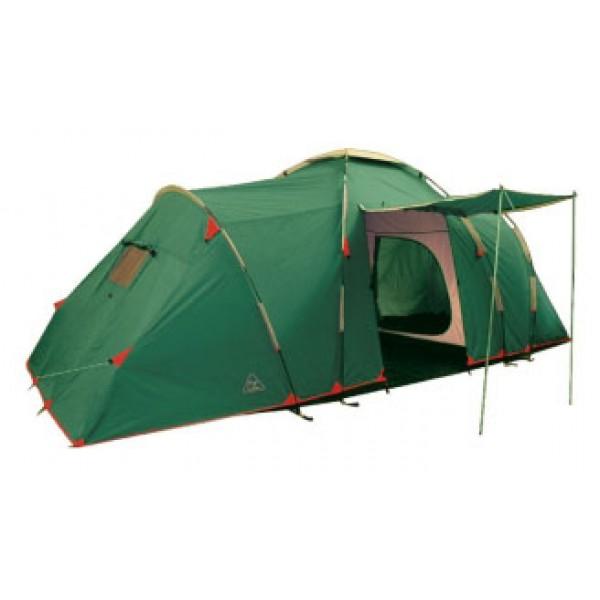 Палатка Tramp BREST 4 кемпинговаякемпинговая палатка, 4-местная, внешний каркас, дуги из стеклопластика, один вход / 2 комнаты, высокая водостойкость тента, вес: 12.5 кг<br><br>Вес кг: 12.60000000