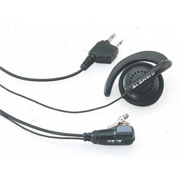 Гарнитура Midland МА24Гарнитура скрытого ношения. Крепящийся на воротник микрофон с динамиком-наушником и с переключателем VOX/PTT -2-контактным разъёмом. Не поддерживает функцию VOX у следующих моделей: Midland G8E-BT, Midland GXT900. Переключение на гарнитуре PTT/VOX в режим VOX блокирует кнопку MENU на следующих моделях:Midland G8E-BT, Midland G9, Midland G9 mimatic.<br>
