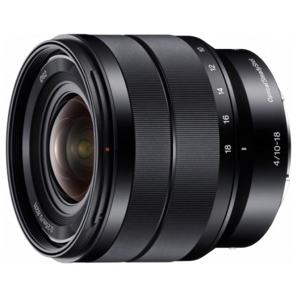 Объектив Sony SEL-1018mm  (SEL 10-18mm f/4)Sony 10-18mm f/4 (SEL1018) Сверхширокоугольный зум-объектив F4 10-18 мм со стеклом со сверхнизкой дисперсией и оптическим стабилизатором изображения Optical SteadyShot Максимальное значение диафрагмы F4 на всем диапазоне фокусных расстояний Делайте сверхширокоугольные фотографии при минимальном фокусном расстоянии 10 мм Стабилизация изображения повышает качество снимков в условиях низкой освещенности<br><br>Вес кг: 0.30000000