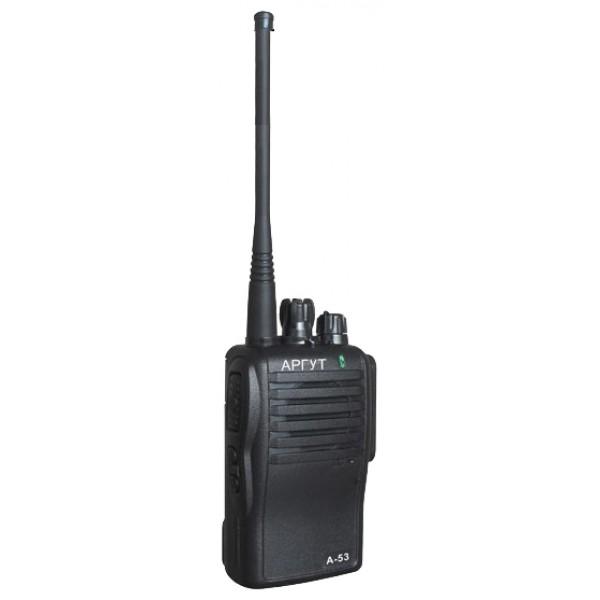 Радиостанция Аргут А-53 портативнаярация LPD/PMR, диапазон частот 433.075-434.775 МГц, 446.006-446.094 МГц, мощность передатчика 0.5 Вт, питание Li-Ion-аккумулятор, вес 270 г, количество каналов 16, поддержка кодирования CTCSS, DCS<br><br>Вес кг: 0.30000000