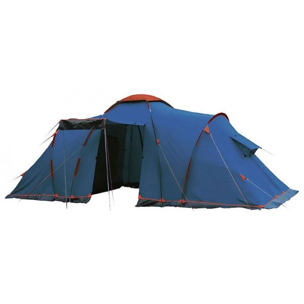 Палатка Sol CASTLE 4 кемпинговаякемпинговая палатка, 4-местная, внешний каркас, дуги из стеклопластика, 2 входа / 2 комнаты, высокая водостойкость, вес: 11.7 кг<br><br>Вес кг: 11.80000000