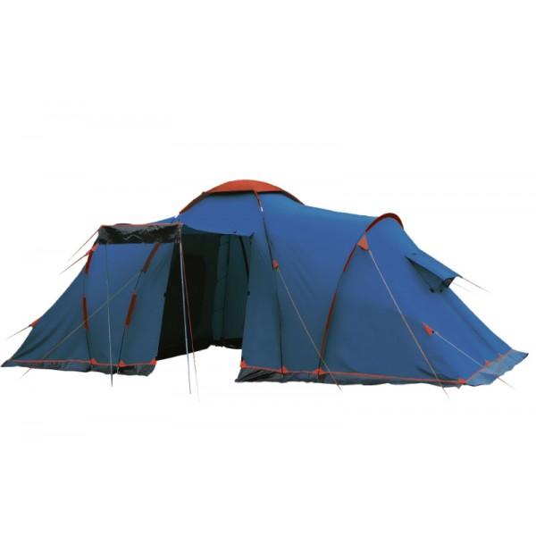 Палатка Sol  CASTLE 6 кемпинговаяДвухслойная кемпинговая палатка с двумя входами, большим тамбуром; входы всех спальных отделений продублированы москитной сеткой; во внешнем тенте вход в тамбур продублирован москитной сеткой; тент палатки оборудован юбкой; два спальных отделения; два больших вентиляционных окна; все швы проклеены; съемный пол из терпаулинга;<br><br>Вес кг: 11.80000000