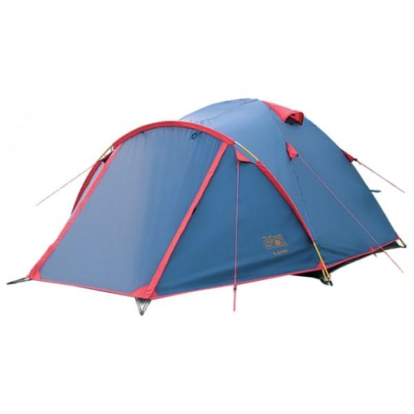 Палатка Sol CAMP 4 трекинговаятрекинговая палатка, 4-местная, внутренний каркас, дуги из стеклопластика, 2 входа / одна комната, высокая водостойкость, вес: 5.25 кг<br><br>Вес кг: 5.25000000