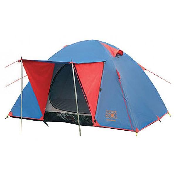 Палатка Sol WONDER 2 трекинговаятрекинговая палатка, 2-местная, внутренний каркас, дуги из стеклопластика, один вход / одна комната, высокая водостойкость, вес: 3.9 кг<br><br>Вес кг: 3.90000000