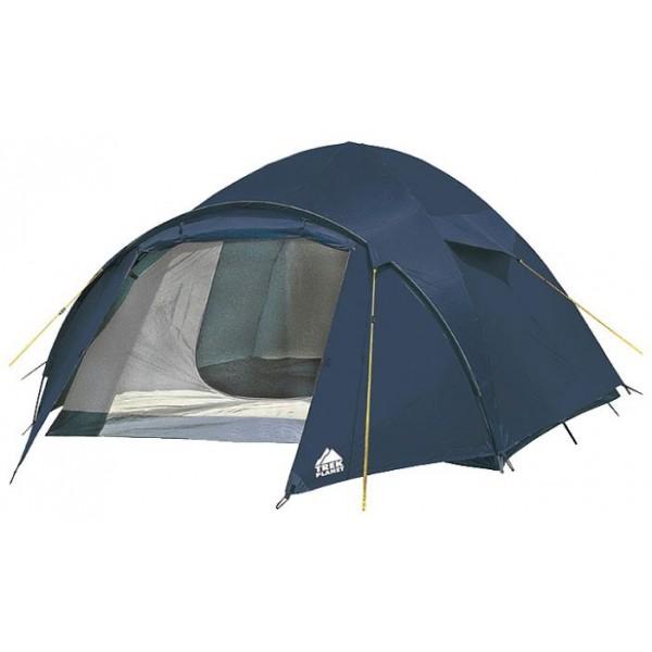 Палатка Trek Planet Palermo 3 трекинговаятрекинговая палатка, 3-местная, внутренний каркас, дуги из стеклопластика, один вход / одна комната, невысокая водостойкость, вес: 4.4 кг<br><br>Вес кг: 4.40000000