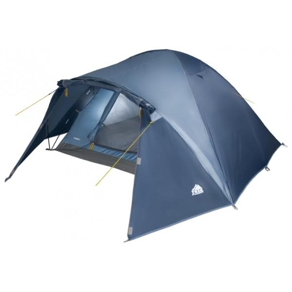 Палатка Trek Planet Palermo 4 трекинговаятрекинговая палатка, 4-местная, внутренний каркас, дуги из стеклопластика, один вход / одна комната, невысокая водостойкость, вес: 4.5 кг<br><br>Вес кг: 4.50000000