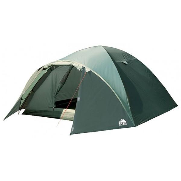Палатка Trek Planet Denver Air 4 трекинговаятрекинговая палатка, 4-местная, внутренний каркас, дуги из стеклопластика, 2 входа / одна комната, высокая водостойкость тента, вес: 4.7 кг<br><br>Вес кг: 4.70000000