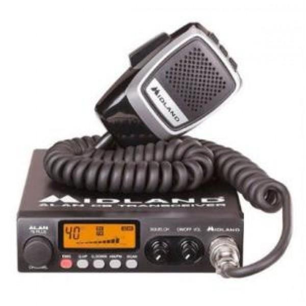 Радиостанция Alan 78 Plus автомобильнаяШирокий диапазон каналов у рации Alan 78plus позволяет связываться со всеми абонентами сети 27 МГц.<br><br>Вес кг: 1.10000000