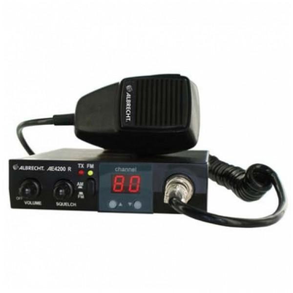 Радиостанция автомобильная Albrecht AE 4200Albrecht AE-4200 R поддерживает 80 каналов в AM/FM-диапазоне.Снабжен крупным, хорошо читаемым светодиодным дисплеем, отображающим номер выбранного канала.<br><br>Вес кг: 0.80000000