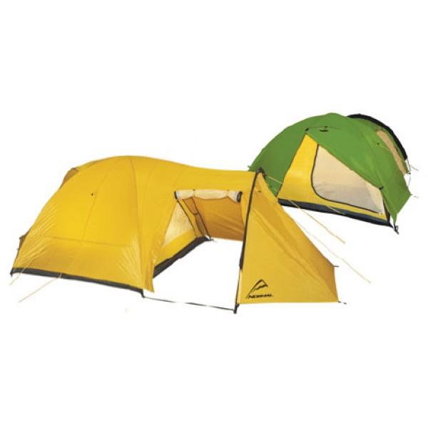 Палатка Normal Нева 4Назначение: Пешеходный и водный классический туризм, активный отдых, длительные стоянки. Особенности: Комфортная, нетребовательная к условиям установки палатка. // Двухслойная двухдуговая полусфера с коньком и отнесённой тамбурной дугой и независимой внутренней палаткой. // Коньковая дуга увеличивает внутренний объём палатки. // Два входа, вместительный основной и дополнительный тамбуры. // Палатка оснащена системой сквозной вентиляции. // Боковые карманы из сетки. // Стропа-фиксатор исключает соприкосновение внешнего тента с внутренней палаткой. Конструкция: Двухслойная трёхдуговая полусфера с коньком и отнесенной тамбурной дугой и независимой внутренней палаткой.<br><br>Вес кг: 5.80000000