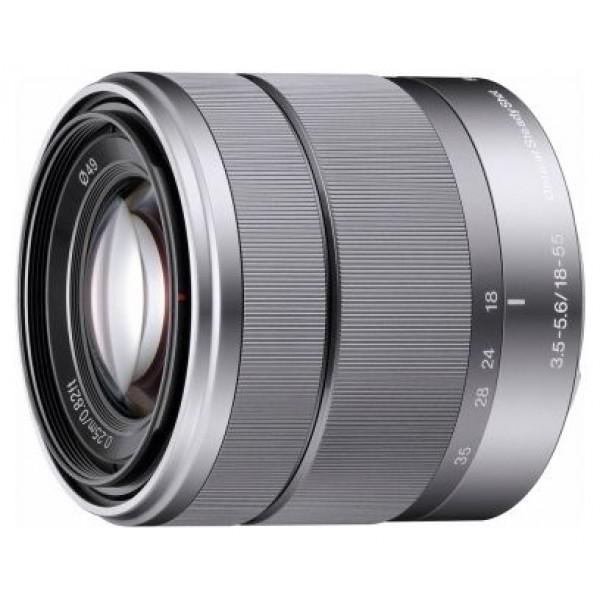 Объектив Sony 18-55mm f/3.5-5.6 E OSS (SEL-1855)Sony 18-55mm f/3.5-5.6 E OSS (SEL-1855) стандартный Zoom-объектив, крепление Sony E, встроенный стабилизатор изображения, автоматическая фокусировка, минимальное расстояние фокусировки 0.25 м, размеры (DхL): 62x60 мм, вес: 194 г<br><br>Вес кг: 0.30000000