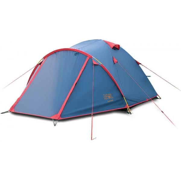 Палатка Sol CAMP 3 трекинговаятрекинговая палатка, 3-местная, внешний каркас, дуги из стеклопластика, 2 входа / одна комната, высокая водостойкость, вес: 4.3 кг<br><br>Вес кг: 4.30000000