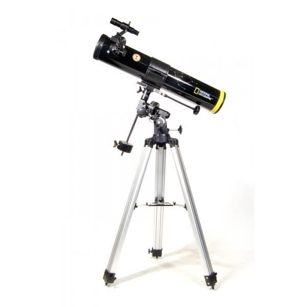 Телескоп Bresser National Geographic 76/700 EQТелескоп Bresser National Geographic 76/700 EQ – компактный и легкий телескоп-рефлектор, установленный на экваториальной монтировке немецкого типа. Эта модель станет идеальным помощником для тех, кто только планирует начать изучение звездного неба<br>