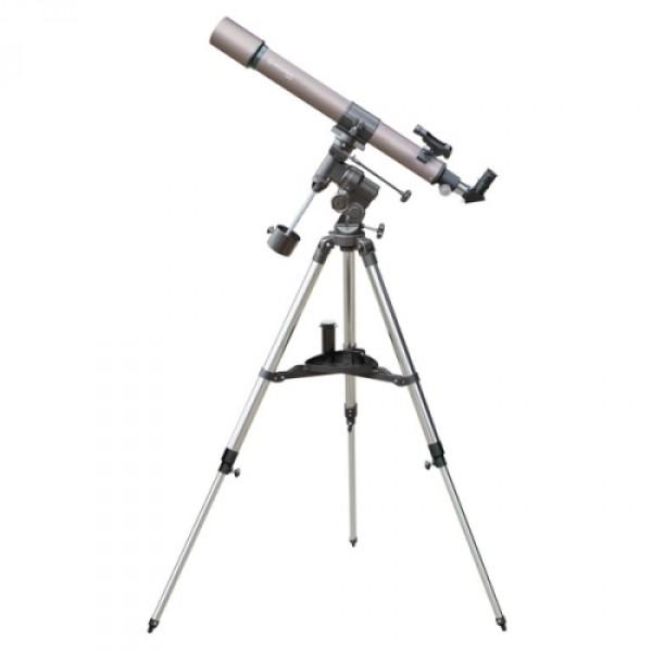Телескоп Bresser Lyra 70/900 EQ-SKYНебольшой рефрактор на экваториальной монтировке Bresser Lyra 70/900  EQ-SKY будет отличным выбором для начинающего любителя астрономии. Он  прост в управлении, наблюдения с этим телескопом не вызовут сложностей  даже у неопытного наблюдателя. Экваториальная монтировка телескопа  хорошо подойдет для наблюдений за небесными объектами, а высокое  качество оптики обеспечит яркость и контрастность изображения.<br><br>Вес кг: 11.20000000
