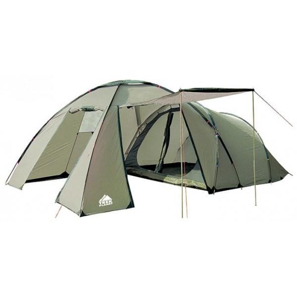 Палатка Trek Planet Montana 4 кемпинговаякемпинговая палатка, 4-местная, внешний каркас, дуги из стеклопластика, 2 входа / одна комната, высокая водостойкость тента, вес: 12 кг<br><br>Вес кг: 12.10000000
